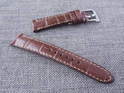 Reddish Brown Alligator Strap  21/18 75/125 Ready to ship